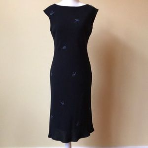 Evan Picone Black Cocktail Dress